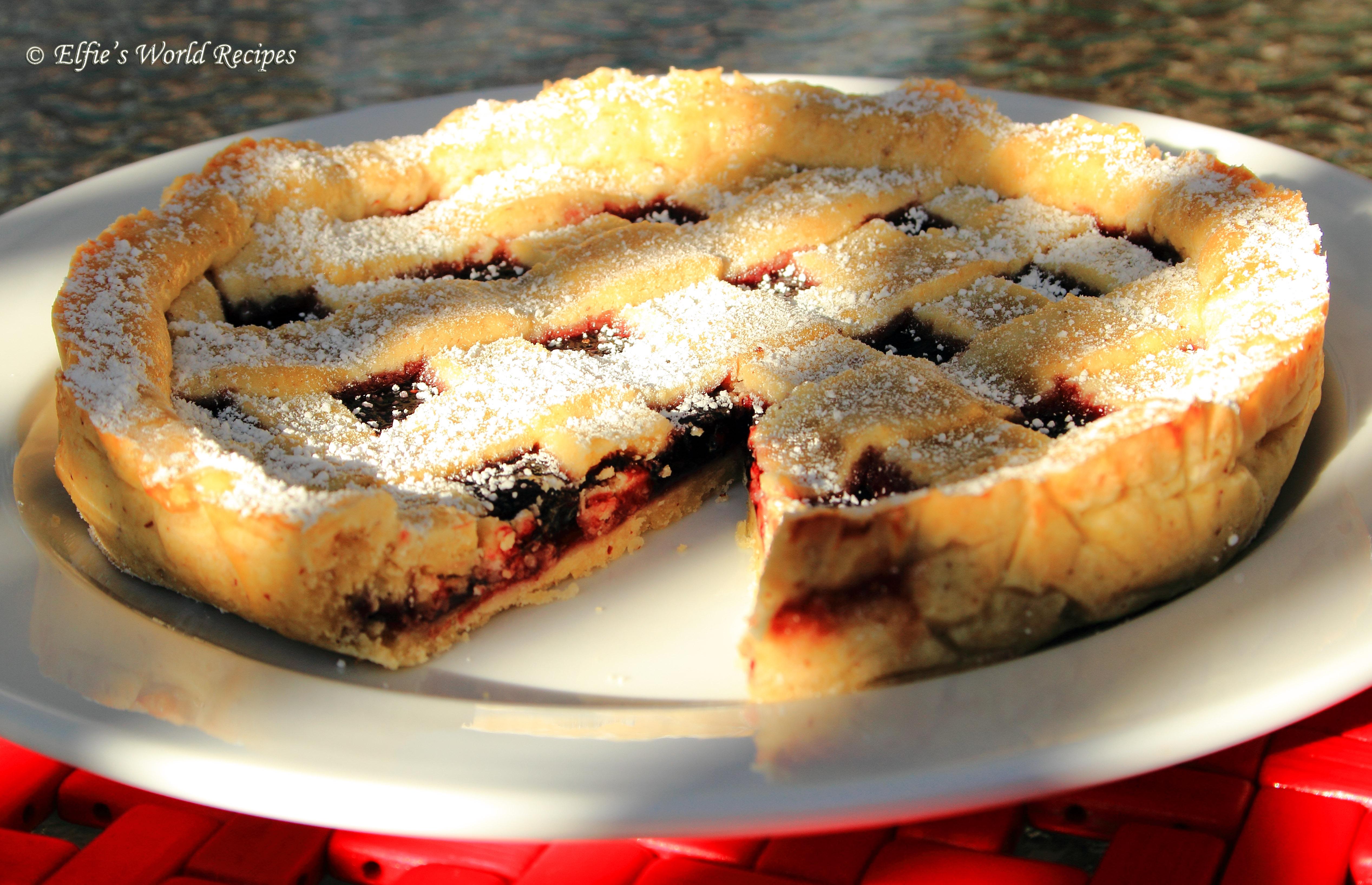 Crostata di Prugna – Prune or Plum Jam Tart | Elfie's ...