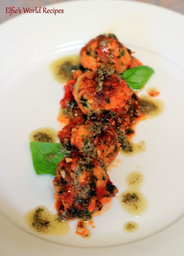 tuna polpette with salmoriglio